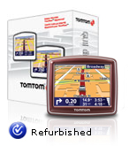 TOMTOM ONE 140 3.5 Inch Touch Screen Portable GPS with Voice RED (Refurbished)