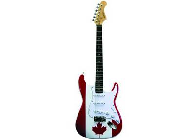 trinity river tedccf double cutaway electric guitar with canadian flag design. Black Bedroom Furniture Sets. Home Design Ideas