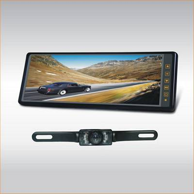 TView RV-102C 10.2 Inch LCD REAR VIEW MIRROR MONITOR WITH A BACK UP LICENSE PLATE WITH NIGHT VISON & WATER PROOF