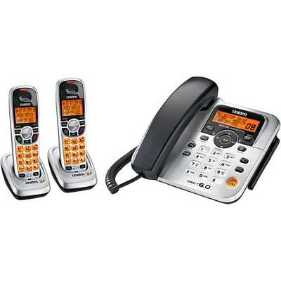 Uniden DECT1588-2 Dect 6.0 Expandable Corded/Cordless Telephone With Dual Keypad, Digital Answering System - 2 Cordless Handsets